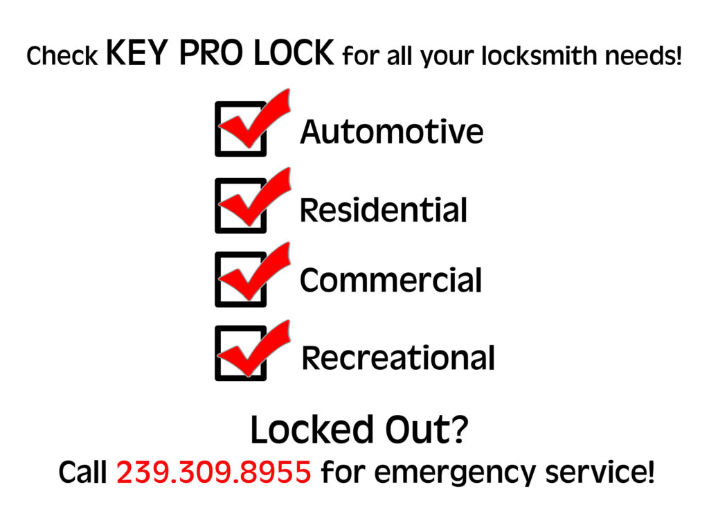 locksmith service in Fort Myers, Florida locked out